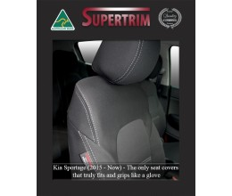 KIA SPORTAGE SEAT COVERS - FRONT PAIR, BLACK Waterproof Neoprene (Wetsuit), UV Treated