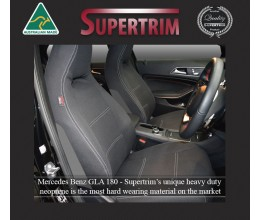 MERCEDES-BENZ GLA180 (2014-Now) SEAT COVERS - FRONT PAIR, BLACK Waterproof Neoprene (Wetsuit), UV Treated