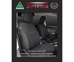 Seat Covers FRONT 2 Bucket Seats Snug Fit for Triton MN (2009 - 2014) Premium Neoprene (Automotive-Grade) 100% Waterproof