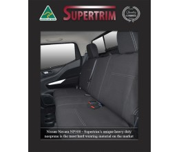 Seat Covers 2nd Row Snug Fit for Nissan Navara NP300 May 2015 - Now Dual Cab, Premium Neoprene (Automotive-Grade) 100% Waterproof