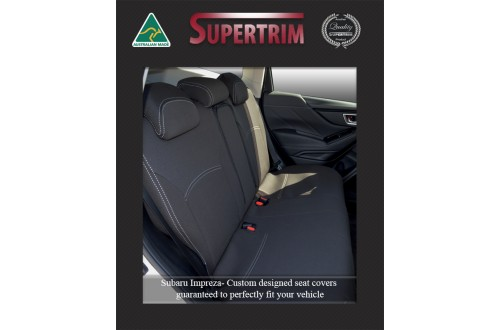 SUBARU IMPREZA REAR NEOPRENE WATERPROOF UV TREATED WETSUIT CAR SEAT COVER