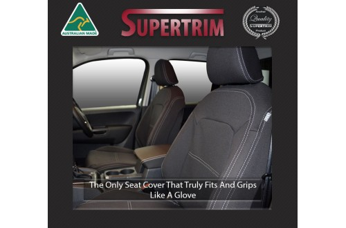 Seat Covers FRONT 2 Bucket Seats Snug Fit for Volkswagen Amarok Ultimate 2017 - Now, Premium Neoprene (Automotive-Grade) 100% Waterproof