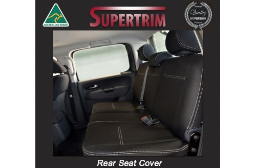 Seat Covers 2nd Row Snug Fit for Volkswagon Amarok Mar 2011 - Now, Premium Neoprene (Automotive-Grade) 100% Waterproof