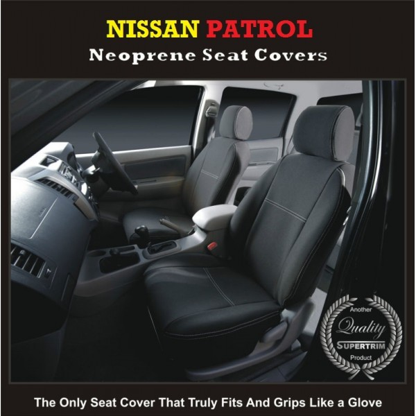 Awe Inspiring Nissan Patrol Waterproof Uv Treated Wetsuit Front Pair Of Car Seat Covers Machost Co Dining Chair Design Ideas Machostcouk