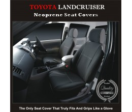 Seat Covers FRONT suitable for Toyota Landcruiser Series - 70 -/- 80 -/-- 200, Premium Neoprene (Automotive-Grade) 100% Waterproof