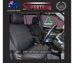 FRONT seat covers for Toyota Prado 90 series, Snug Fit, Premium Neoprene (Automotive-Grade) 100% Waterproof