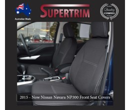 Seat Covers FRONT 2 Bucket Seats Snug Fit for Nissan Navara NP300 May 2015 - Now, Premium Neoprene (Automotive-Grade) 100% Waterproof