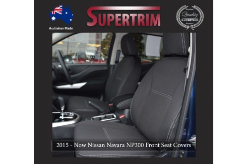 Seat Covers FRONT 2 Bucket Seats Snug Fit For Nissan Navara NP300 May 2015
