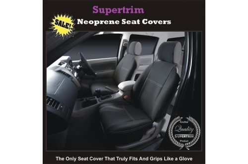 ISUZU N SERIES TRUCK SEAT COVERS - FRONT PAIR, BLACK Waterproof Neoprene (Wetsuit), UV Treated