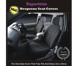 SUZUKI SX4 2014 - Now SEAT COVERS - FRONT PAIR, BLACK Waterproof Neoprene (Wetsuit), UV Treated