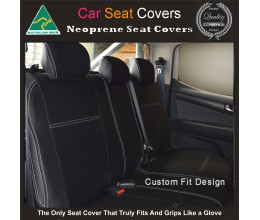 Seat Covers REAR Full-back (with optional armrest zip) suitable for Toyota Landcruiser 200 Series Premium Neoprene (Automotive-Grade) 100% Waterproof Copy