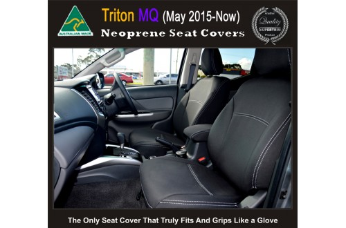 Seat Covers FRONT 2 Bucket Seats Snug Fit for Triton MN 2009 - 2014, Premium Neoprene (Automotive-Grade) 100% Waterproof