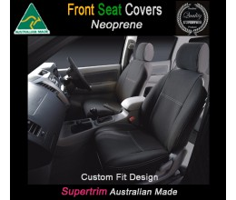 TOP MITSUBISHI CHALLENGER FRONT PAIR OF WATERPROOF CAR SEAT COVERS WITH SEPARATE HEADREST COVERS