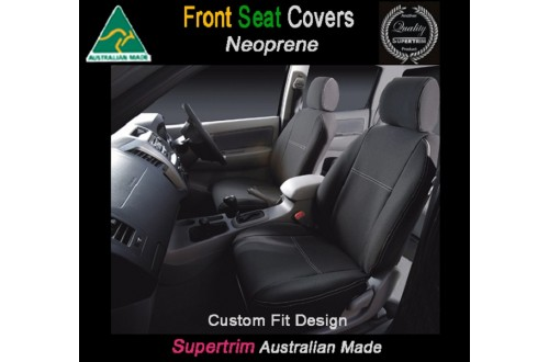 MINI COOPER SEAT COVERS - FRONT PAIR, BLACK Waterproof Neoprene (Wetsuit), UV Treated
