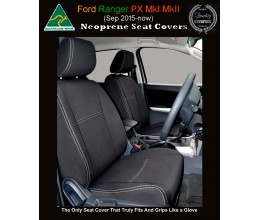 Ford Ranger FRONT Seat Covers tailor-made Half Back, 2018 model available, Neoprene  100% Waterproof