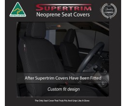 Seat Covers FRONT PAIR Snug Fit for Toyota Kluger (Aug 2007 - Feb 2014), Premium Neoprene (Automotive-Grade) 100% Waterproof