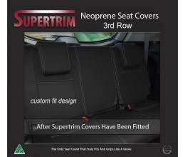 3rd Row Seat Covers Full-back Snug Fit for Isuzu MU-X (Nov 2013 - Now), Premium Neoprene (Automotive-Grade) 100% Waterproof
