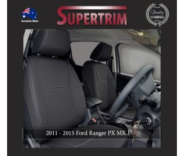 Ford Ranger PX MK.I (Jul 2011 - Aug 2015) FRONT + REAR Seat Covers, Snug Fit, Premium Neoprene (Automotive-Grade) 100% Waterproof