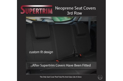 Supertrim Custom Car Seat Covers For Mitsubishi Pajero Third Row full-back