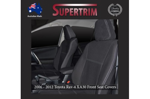 Seat Covers FRONT Pair + CONSOLE Lid Cover Snug Fit For Toyota Rav4 XA30 (2006 - 2012), Premium Neoprene (Automotive-Grade) 100% Waterproof