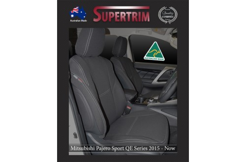 Mitsubishi Pajero Neoprene Custom Car Seat Covers FRONT + Console Lid Covers