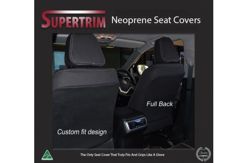Seat Covers FRONT Pair With Full-Length Snug Fit For  Hyundai Santa Fe TM Series (2018 - Now), Premium Neoprene (Automotive-Grade) 100% Waterproof