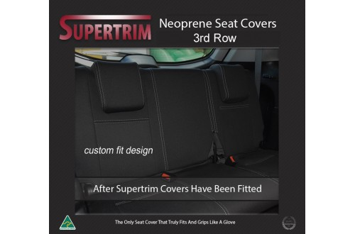 Seat Covers 3rd Row Snug Fit For Toyota Prado 120 series Premium Neoprene (Automotive-Grade) 100% Waterproof