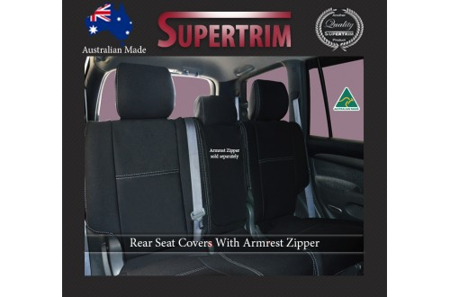 Seat Covers Rear Snug Fit For Toyota Prado 120 series Premium Neoprene (Automotive-Grade) 100% Waterproof