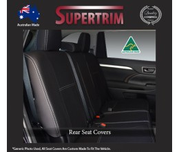 Kia Cerato Hatch (2015-2018) REAR Full-length Seat Covers, Snug Fit, Premium Neoprene (Automotive-Grade) 100% Waterproof