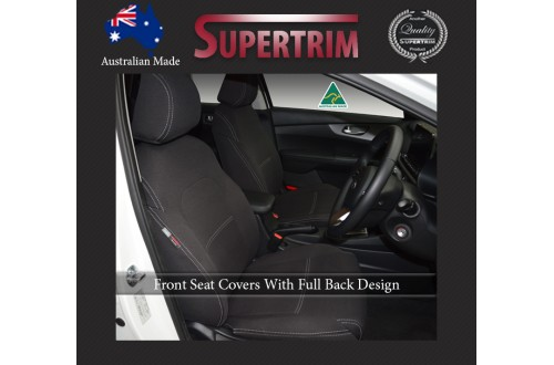 Kia Sorento (2010-Now) FRONT Seat Covers With Full-back, Snug Fit Premium Neoprene (Automotive-Grade) 100% Waterproof