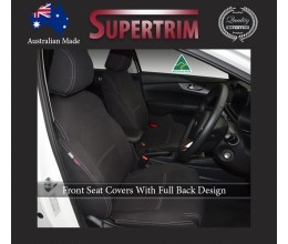 Kia Sorento (2010-Now) FRONT Full-Back Seat Covers with Map Pockets, Snug Fit, Premium Neoprene (Automotive-Grade) 100% Waterproof