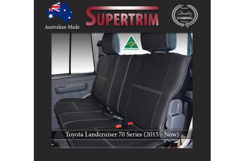 REAR Full-length Seat Covers suitable for Toyota Landcruiser 70-79 Series Premium Neoprene (Automotive-Grade) 100% Waterproof
