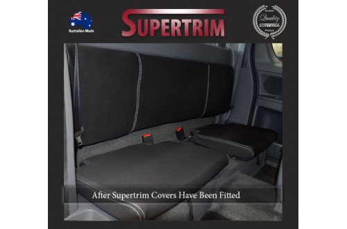 Mazda BT-50 UR (Oct 2015 - Now) REAR Extra Cab (Super Cab) Seat Covers , Premium Neoprene (Automotive-Grade) 100% Waterproof