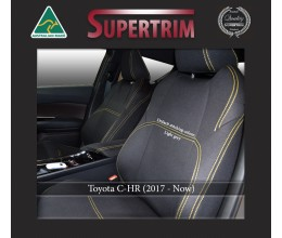 FRONT Seat Covers Full-Length with Map Pockets Custom Fit Toyota C-HR (Nov 2017 - Now), Premium Neoprene | Supertrim