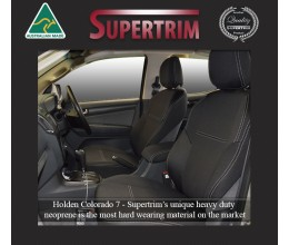 Seat Covers Front pair + Console Lid Cover Snug Fit for Holden Colorado 7 RG (Dec 2012 - Now), Premium Neoprene (Automotive-Grade) 100% Waterproof
