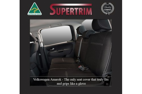 Seat Covers 2nd Row Snug Fit for Volkswagon Amarok (Feb 2011 - Now) Premium Neoprene (Automotive-Grade) 100% Waterproof