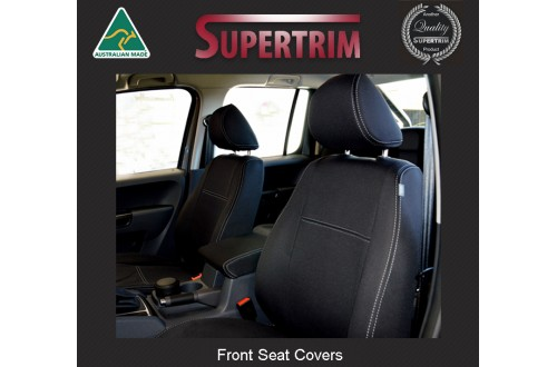 TOP VOLKSWAGEN (VW) TRANSPORTER FRONT PAIR IN FULL BACK + MAP POCKETS WATERPROOF NEOPRENE CAR SEAT COVERS