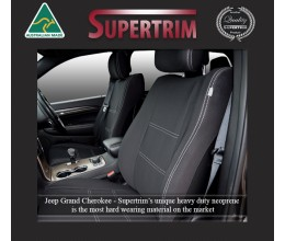 FRONT Seat Covers & Rear with Armrest Access Snug Fit for Grand Cherokee WK 2011 - Now, Premium Neoprene (Automotive-Grade) 100% Waterproof