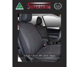 Subaru Liberty BN FRONT Full-back with Map Pockets Seat Covers Custom Fit (2014-Now), Premium Neoprene, Waterproof | Supertrim