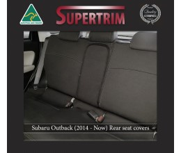 Subaru Liberty BN REAR Full-back Seat Covers + Armrest Cover for (2014-Now), Snug Fit, Premium Neoprene (Automotive-Grade) 100% Waterproof