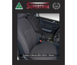 Subaru Liberty BN FRONT Standard & REAR Full-back with Armrest Cover for (2014-Now), Snug Fit, Premium Neoprene (Automotive-Grade) 100% Waterproof