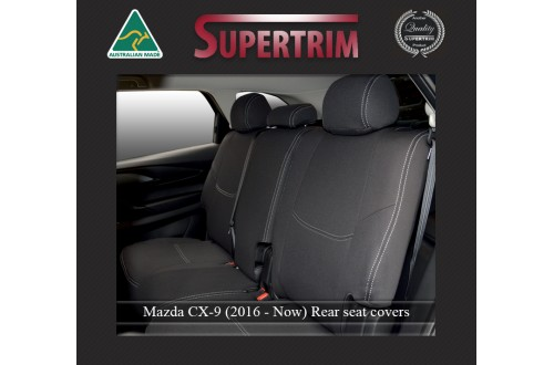 Mazda CX-9 Middle Row Seat Covers Full-length Custom Fit (2016-Now), Premium Neoprene | Supertrim