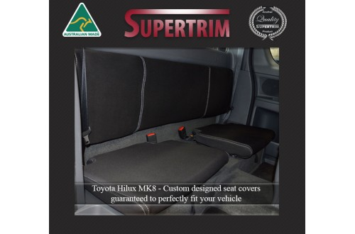 Seat Covers 2nd Row EXTRA (Extended) CAB Snug Fit For Hilux MK.7 (Aug 2009 - Aug 2015) Premium Neoprene (Automotive-Grade) 100% Waterproof