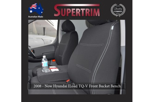 Seat Covers FRONT Bucket & Bench Seats Snug Fit For Hilux MK.7 Aug 2009 - Aug 2015, Premium Neoprene (Automotive-Grade) 100% Waterproof