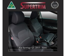 Kia Sportage QL FRONT Seat Covers Full-Length with Map Pockets Custom Fit (2015-Now), Premium Neoprene | Supertrim