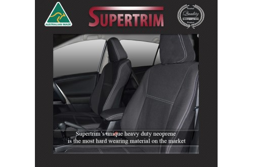 Seat Covers Front Pair & Rear Full Back With Armrest Access, Snug Fit For Toyota Rav4 XA50 (2019-Now), Premium Neoprene (Automotive-Grade) 100% Waterproof