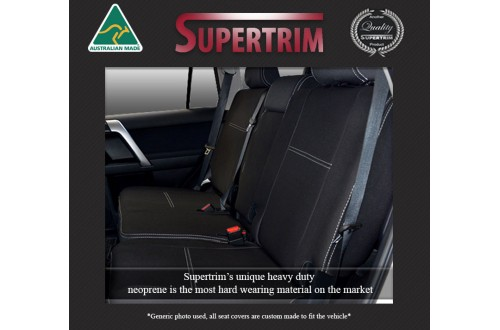 Seat Covers 2nd Row Snug Fit for Toyota Kluger (Aug 2007 - Feb 2014), Premium Neoprene (Automotive-Grade) 100% Waterproof