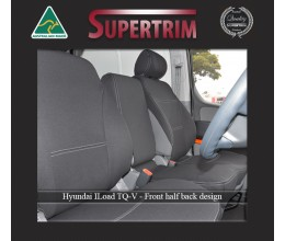Seat Covers FRONT Bucket Bench & Rear, Snug Fit for Hyundai iLoad TQ-V (Feb 2008 - Now)  , Premium Neoprene (Automotive-Grade) 100% Waterproof