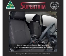 Seat Covers Front Pair + Console Lid Cover Snug Fit For (Oct 2015 - Now) Toyota Fortuner (AN160), Premium Neoprene (Automotive-Grade) 100% Waterproof