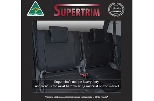 3rd Row Seat Covers Snug Fit For Mitsubishi Pajero (1999 - 2006), Premium Neoprene (Automotive-Grade) 100% Waterproof